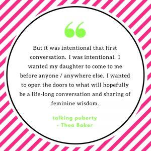 talking puberty
